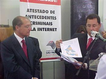 Alckmin e Saulo de Castro apresentaram os dados hoje