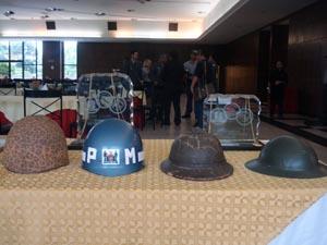 Equipamentos antigos estavam expostos durante a solenidade: tradição